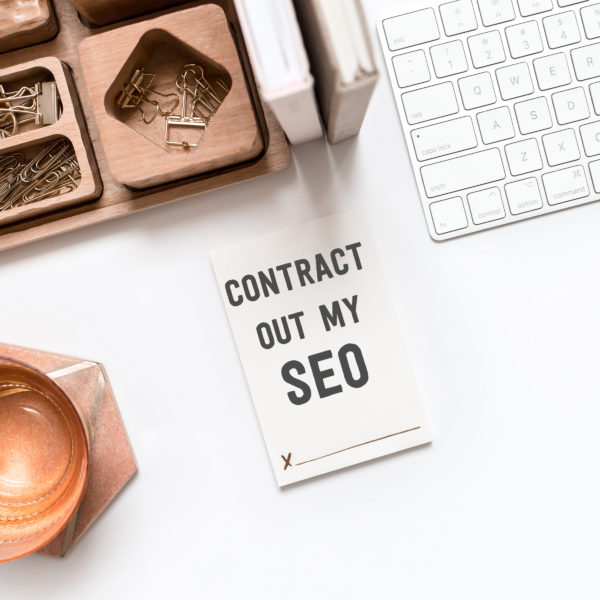 Note illustrating our monthly done for you SEO service