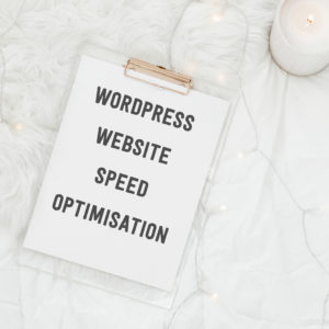 wordpress website speed optimisation graphic illustrating service