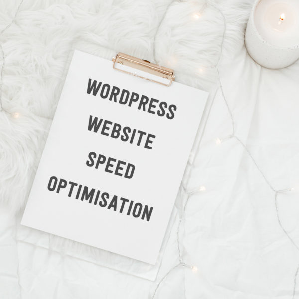 wordpress website speed optimisation graphic illustrating service