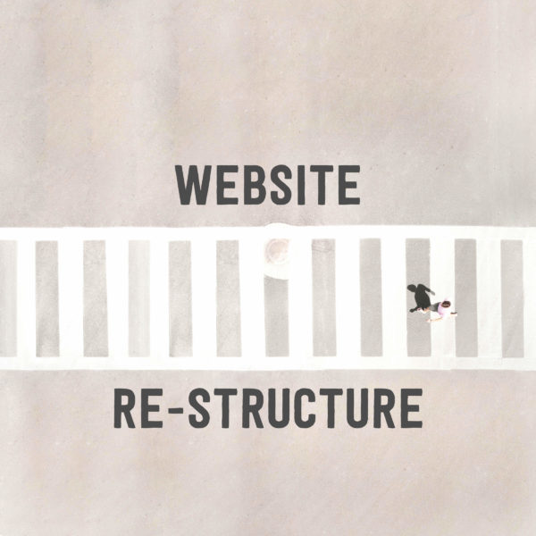 website re-structure graphic
