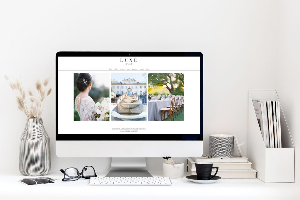 illustration showing a wix SEO case study on a wedding planner website