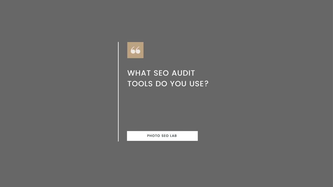 Illustration with 'What SEO Audit tools do I use' question
