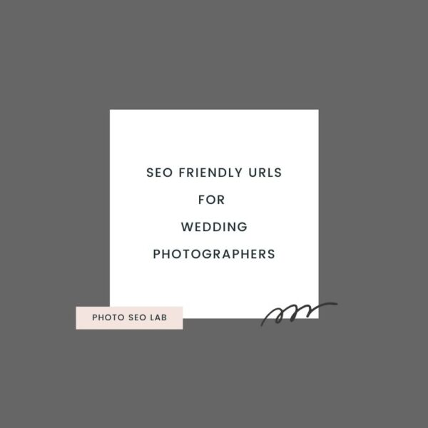 SEO friendly URLs for wedding photographers illustration